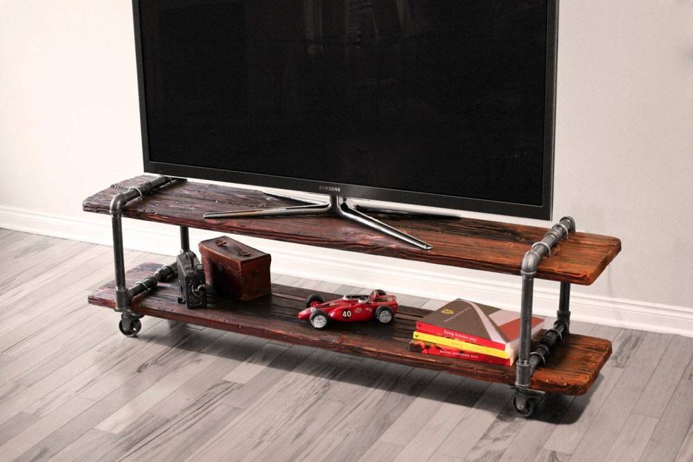 Industrial Tv Stand With Wheels