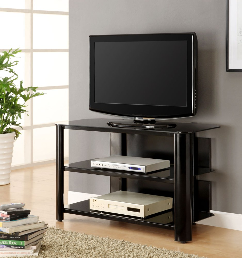 Innovex Tv Stand Black Glass