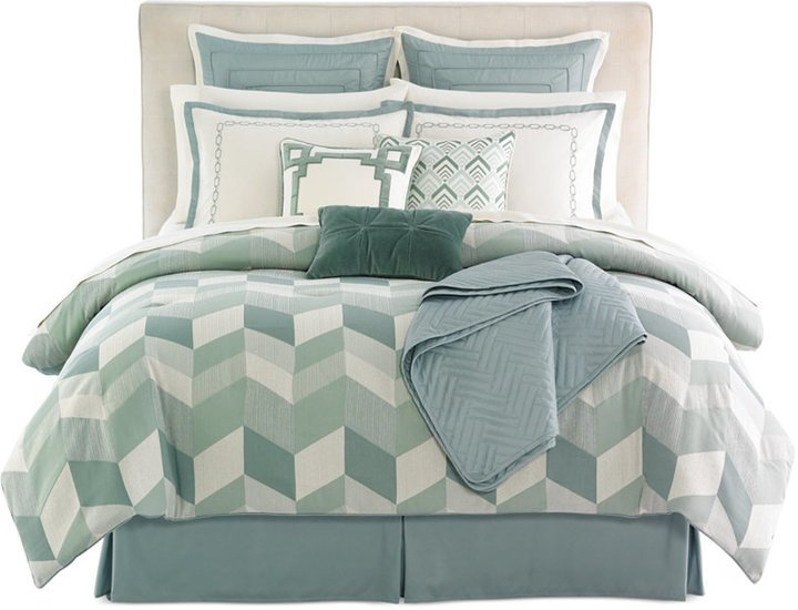 Jasmine Blue 10 Piece Queen Comforter Set