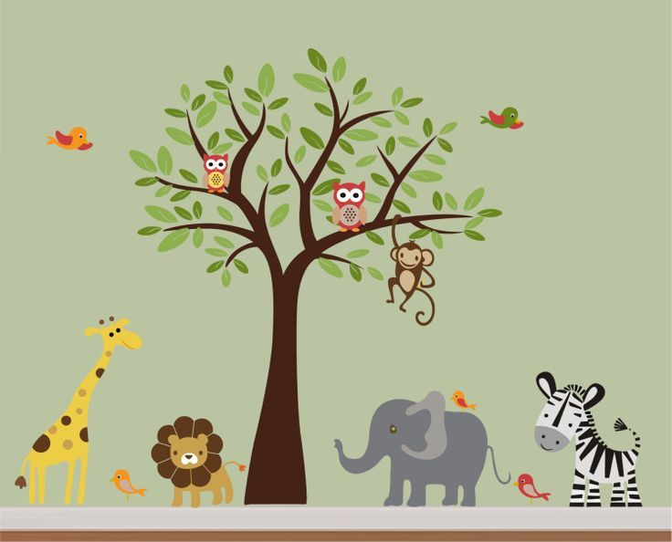 Jungle Wall Decals For Baby Room