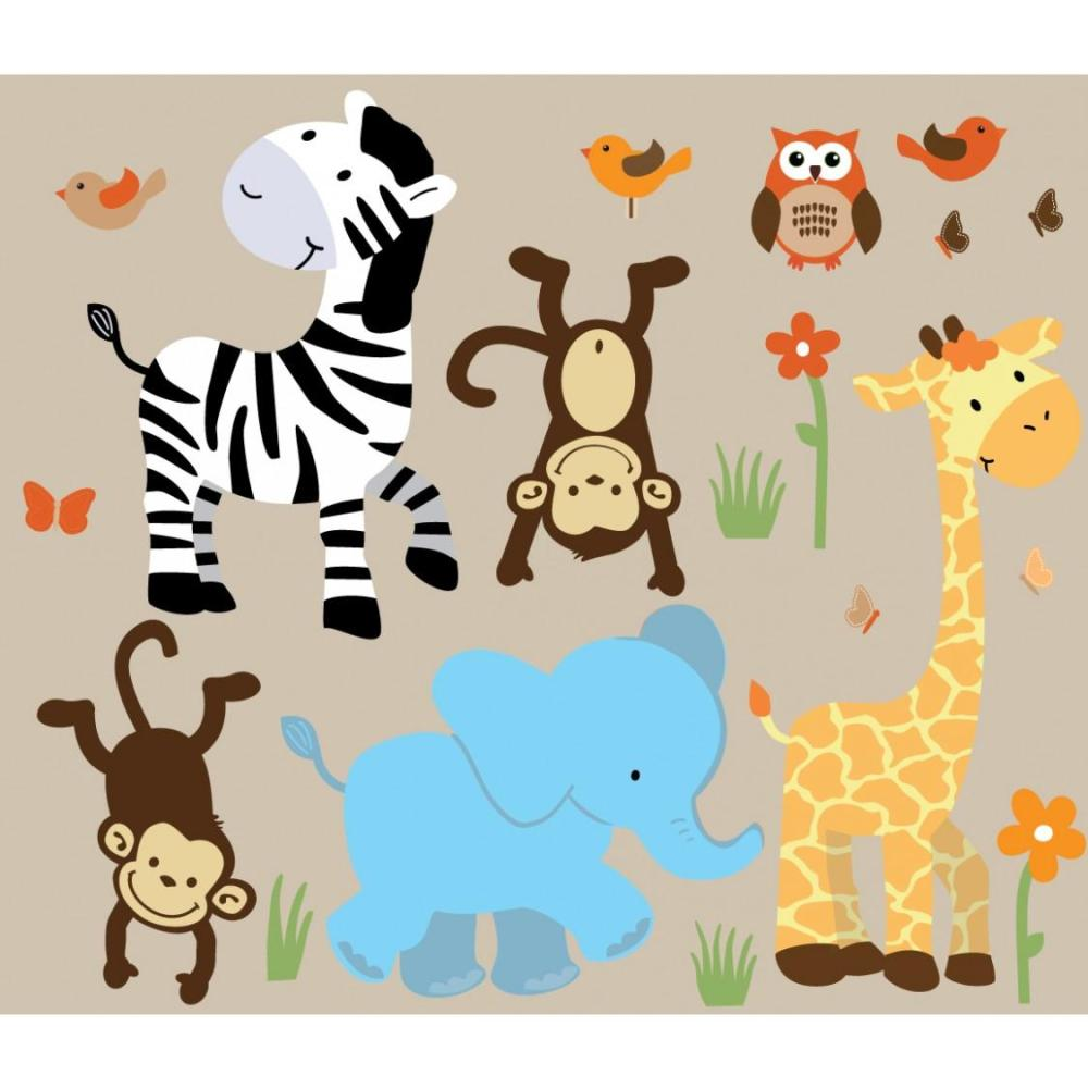Jungle Wall Decals For Kids Rooms