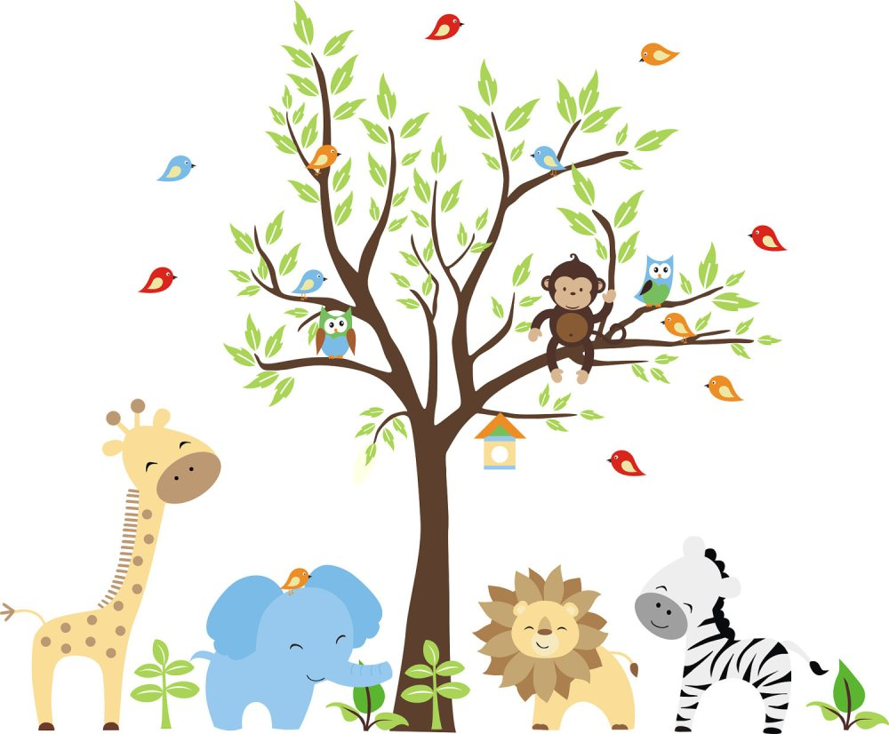 Jungle Wall Decals For Nursery
