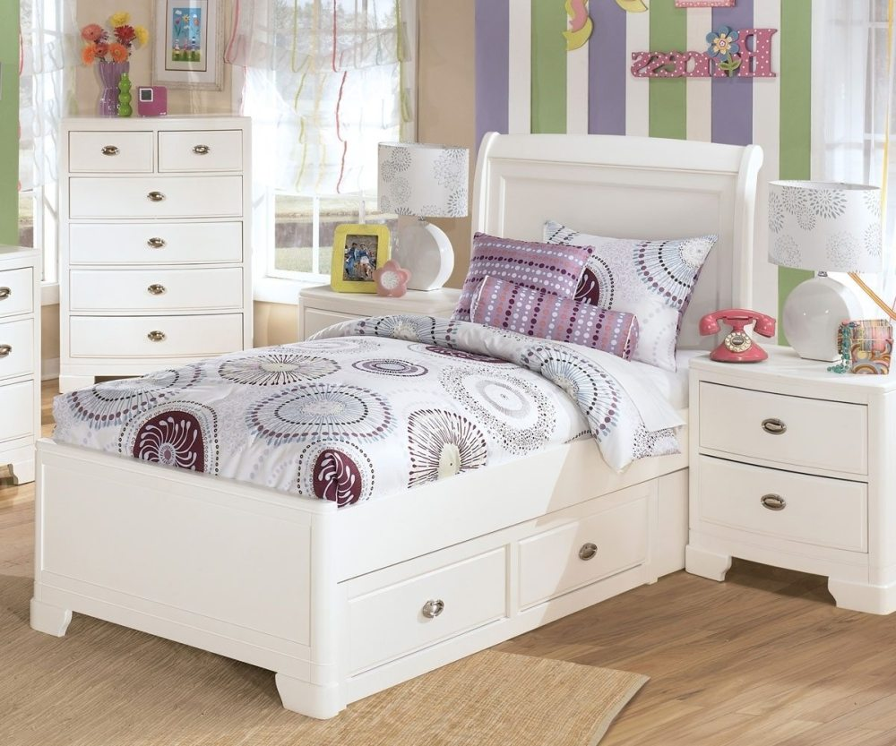 Kid Twin Bed With Storage