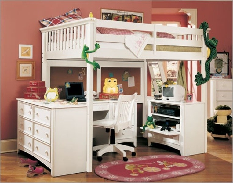 Kids Bed And Desk