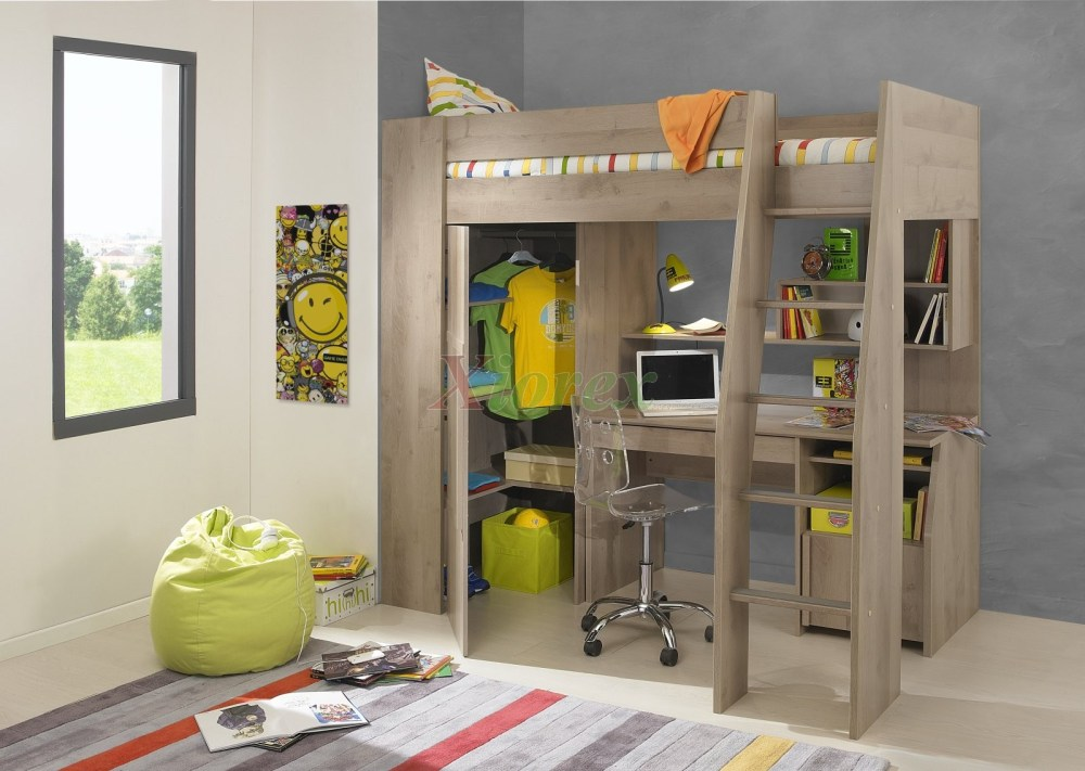 Kids Bed With Desk Underneath