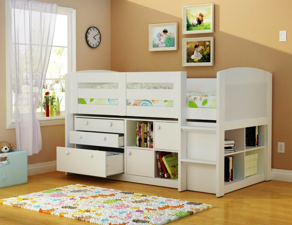Kids Bed With Drawers Underneath