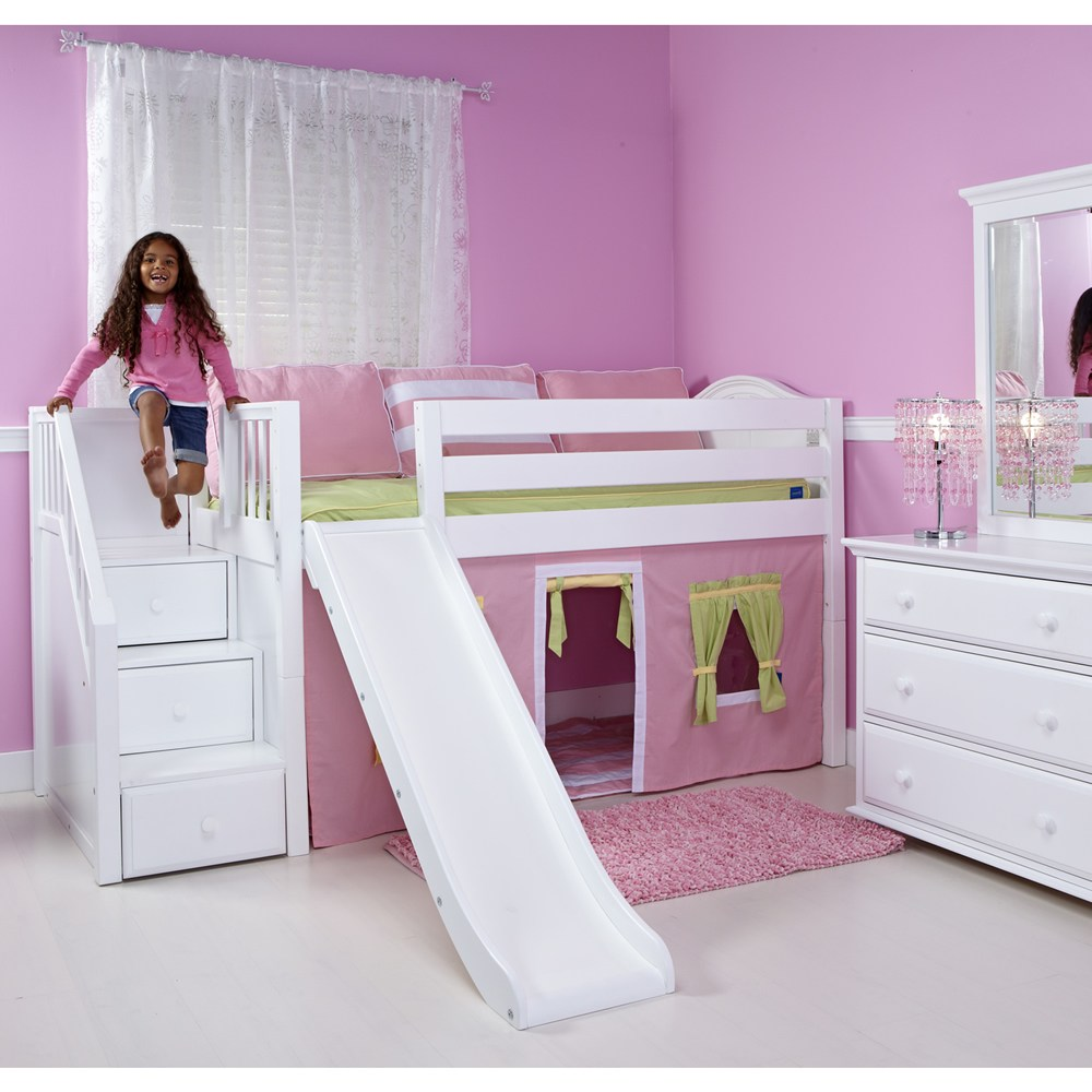 Kids Bed With Stairs