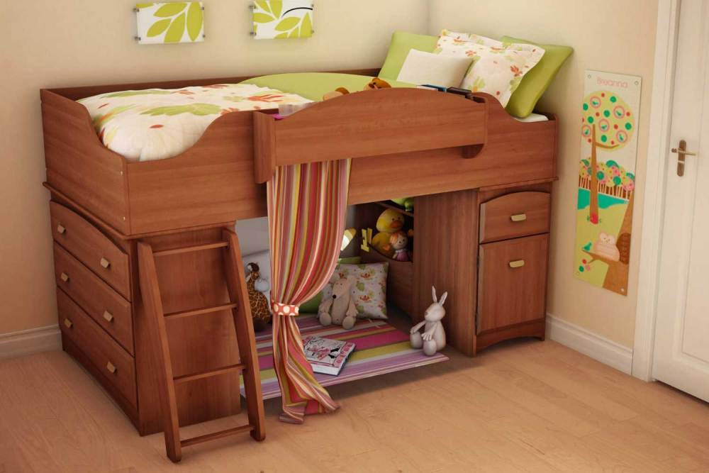 Kids Bed With Storage Drawers