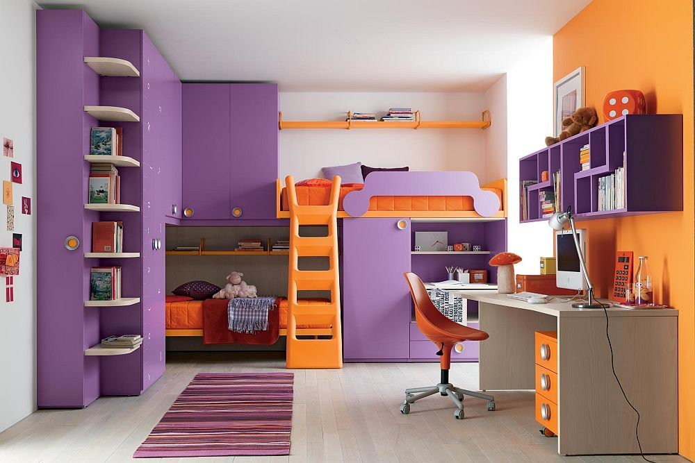 Kids Bedroom Bunk Beds For Girls