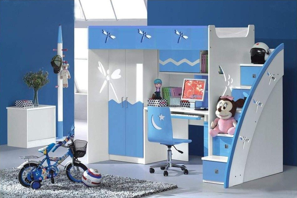 Kids Bedroom For Girls Blue