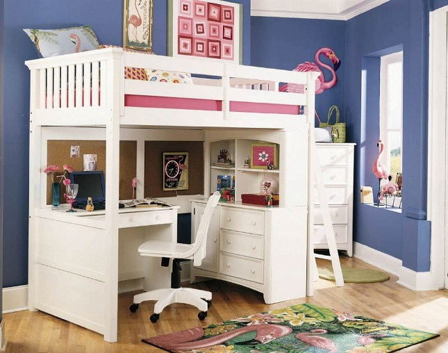 Kids Beds With Desk Underneath