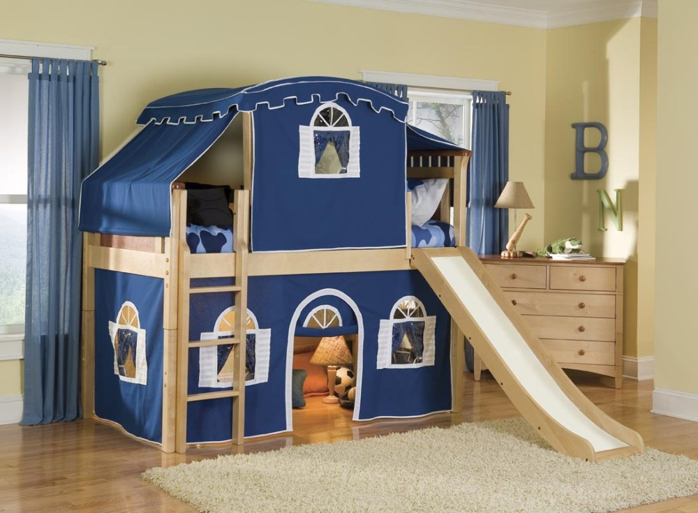 Kids Bunk Bed With Slide