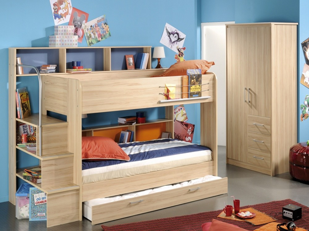 Kids Bunk Bed With Storage
