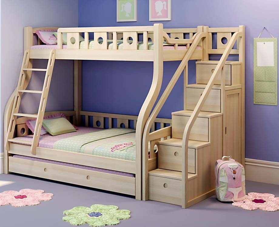 Kids Bunk Beds With Desk And Stairs