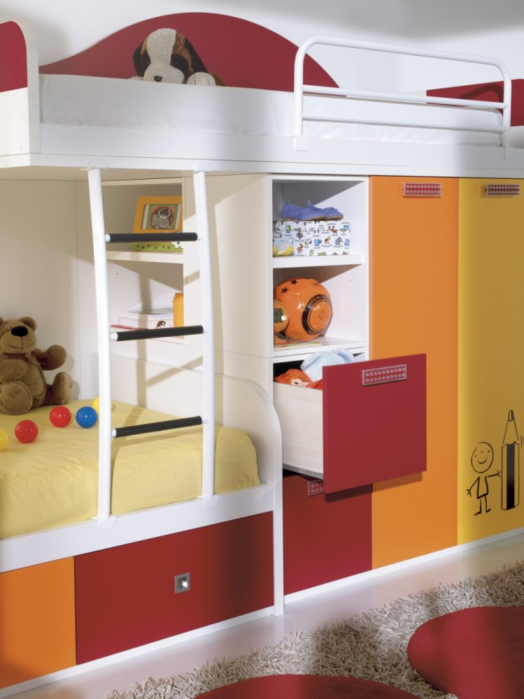 Kids Cabin Bed With Desk