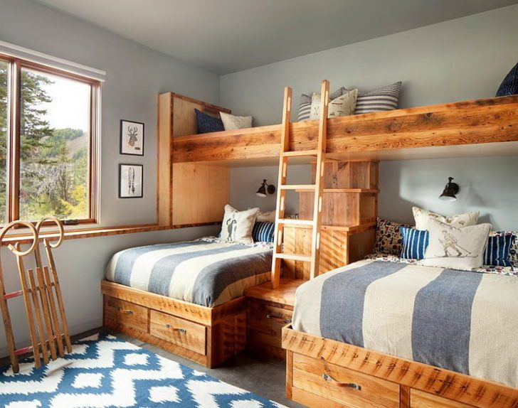 Kids Cabin Bedroom