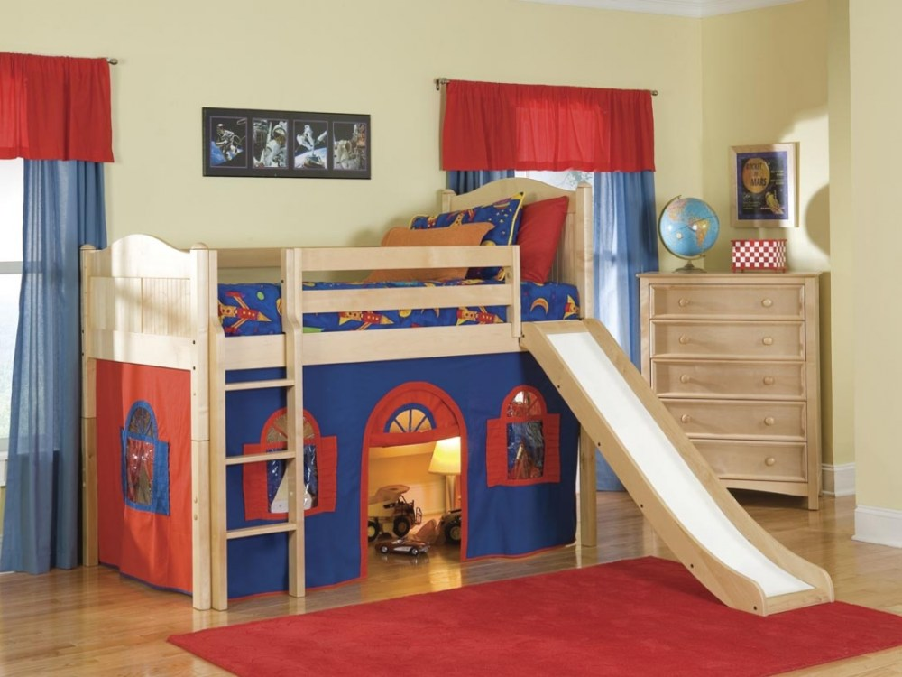 Kids Double Bed With Slide
