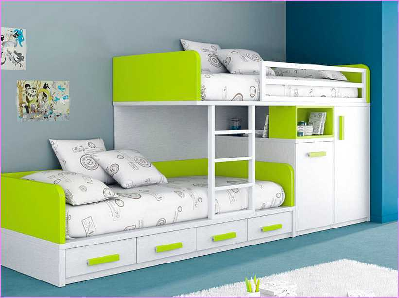 Kids Double Bed With Storage