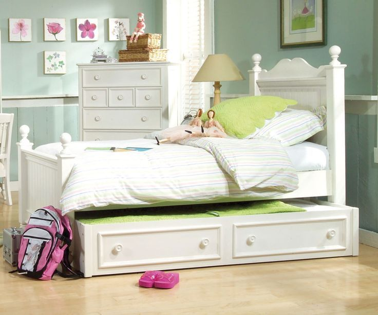 Kids Double Bed With Trundle