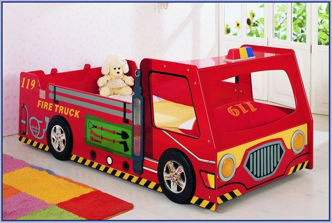 Kids Fire Truck Bed