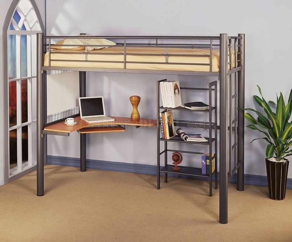 Kids Metal Loft Bed