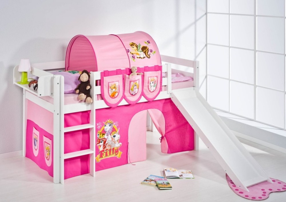 Kids Pink Bunk Bed