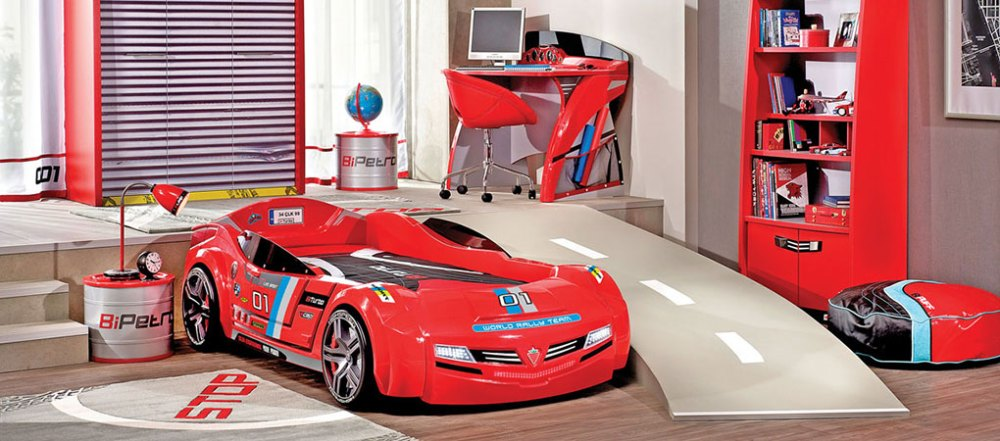 Kids Red Car Bed