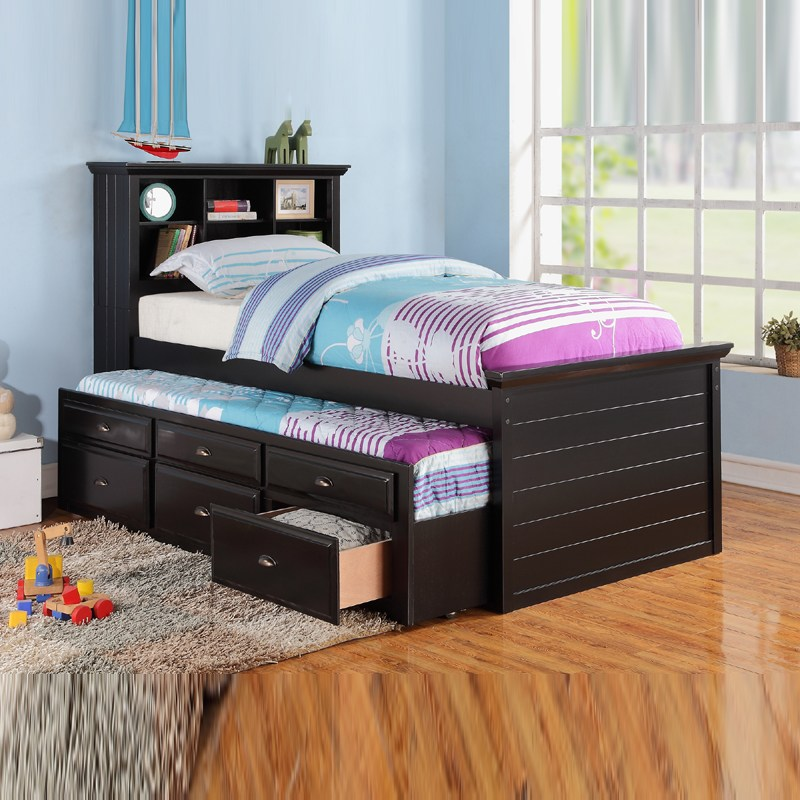 Kids Twin Bed Trundle