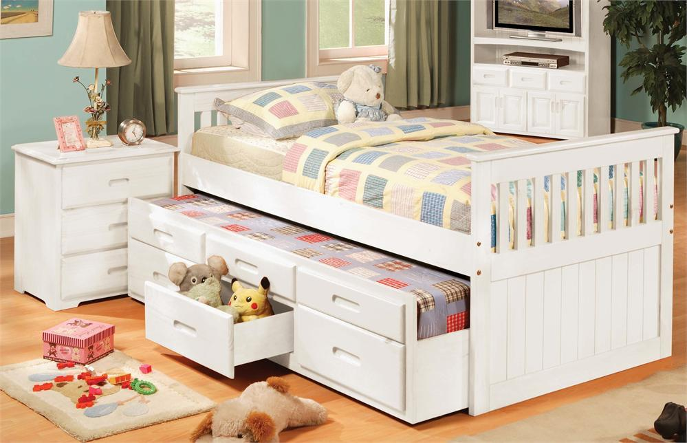 Kids Twin Bed With Drawers