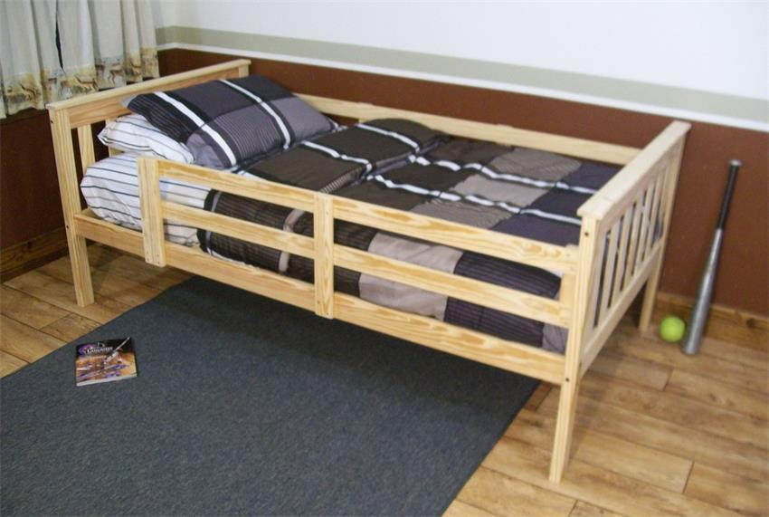 Kids Twin Bed With Rails