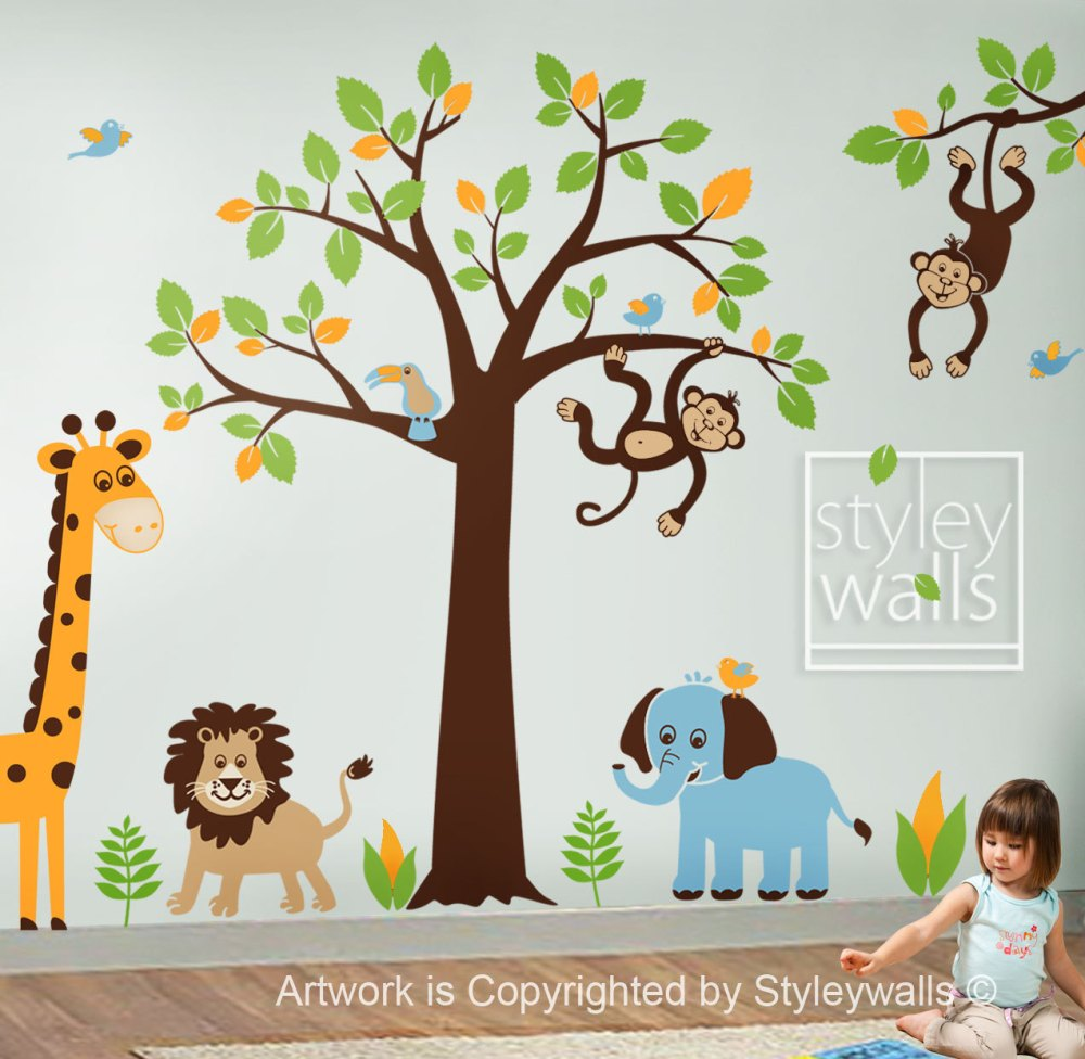 Kids Wall Decals Jungle