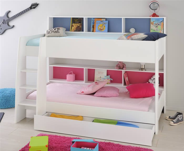 Kids White Bunk Beds