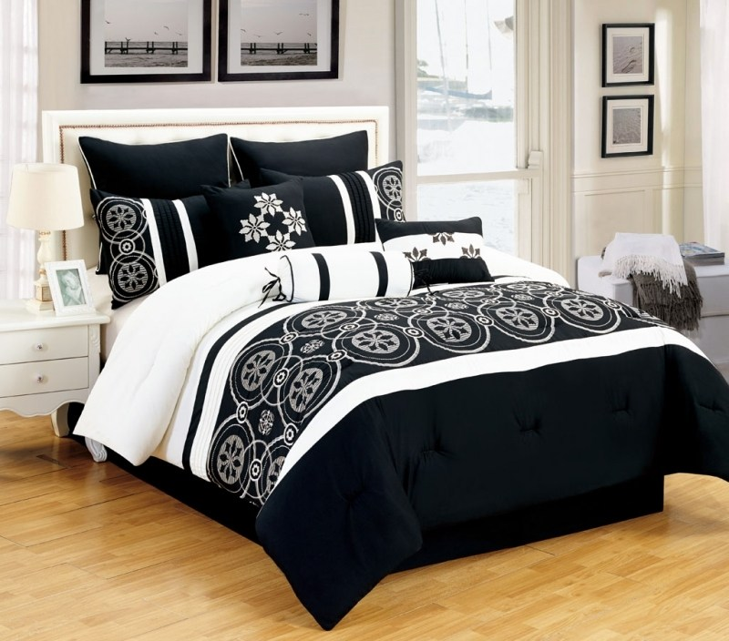 King Comforter Sets Black