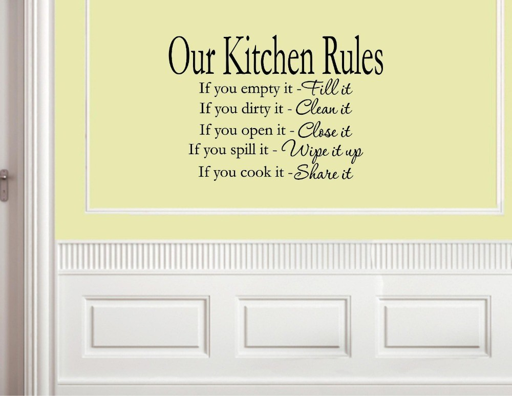 Kitchen Wall Decals Words