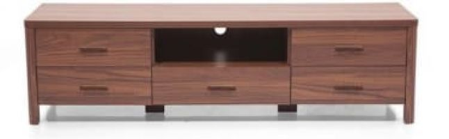 Ladder Tv Stand Walnut