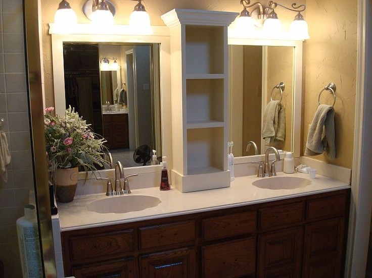 Large Framed Mirror For Bathroom