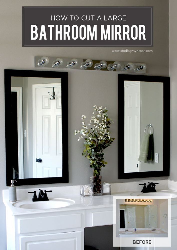 Large Frameless Bathroom Mirrors Uk