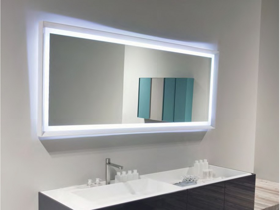 Large Led Bathroom Mirrors