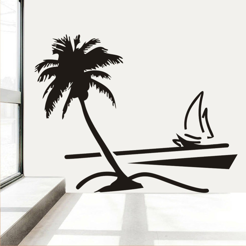 Large Palm Tree Wall Decal
