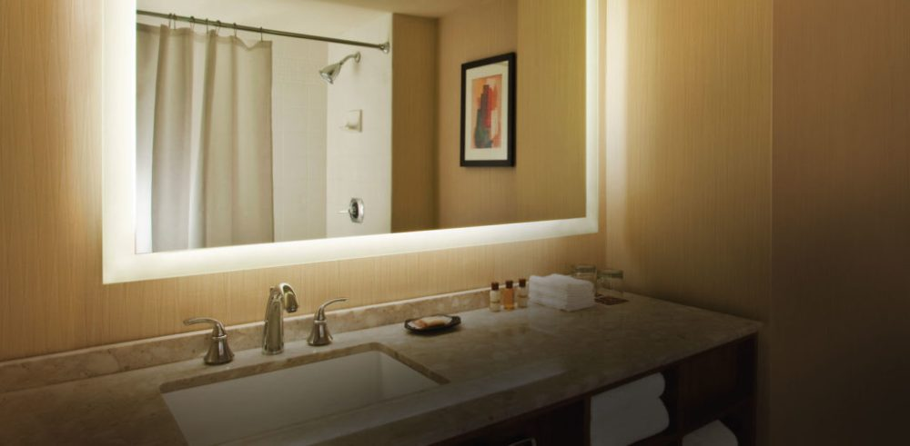 Large Rectangular Bathroom Wall Mirror