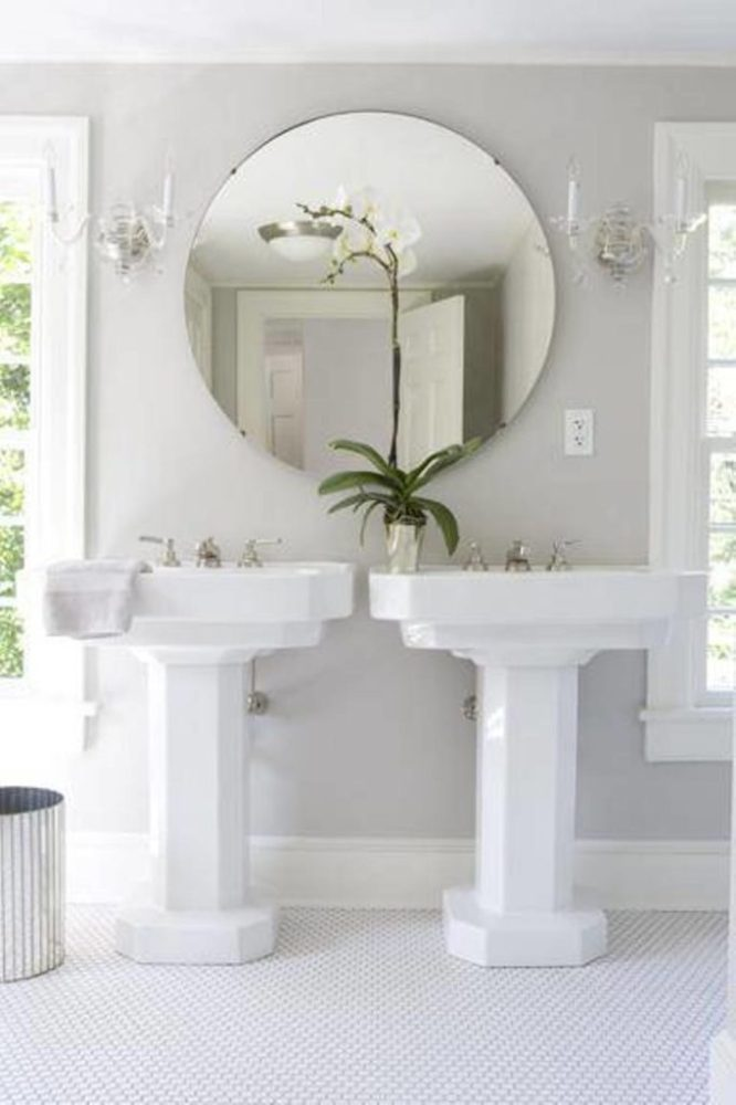 Large Round Bathroom Mirror