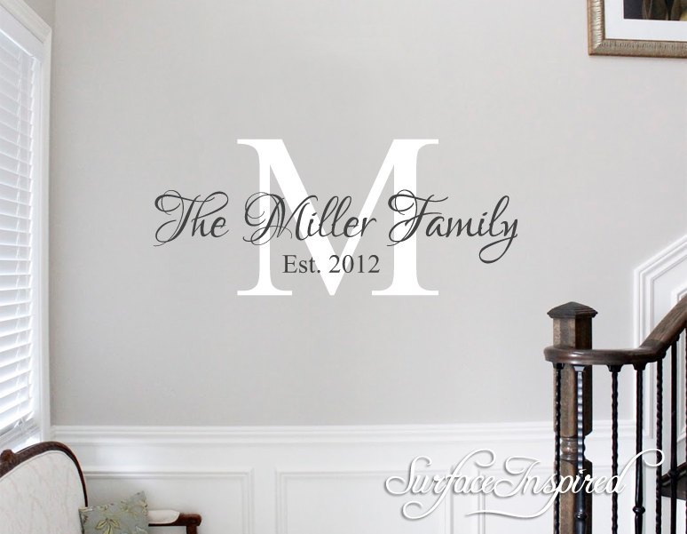 Last Name Wall Decals
