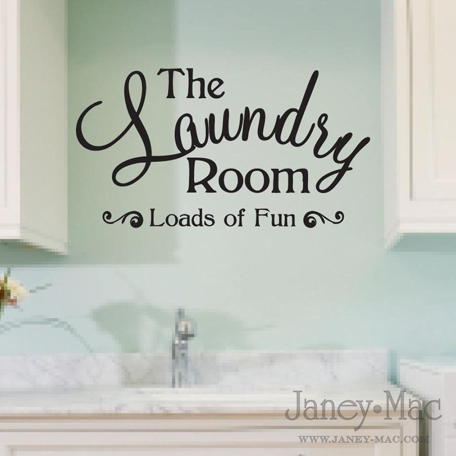 Laundry Vinyl Wall Decals