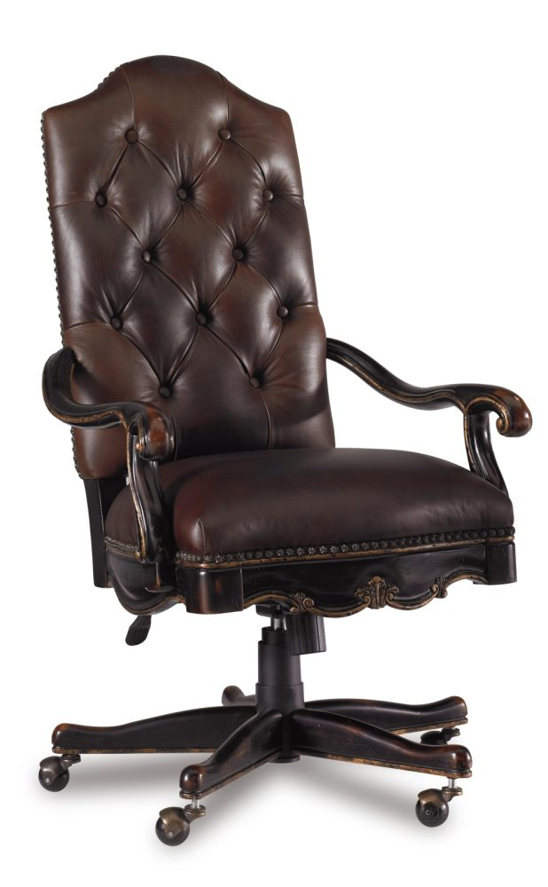 Leather Tufted Office Chair