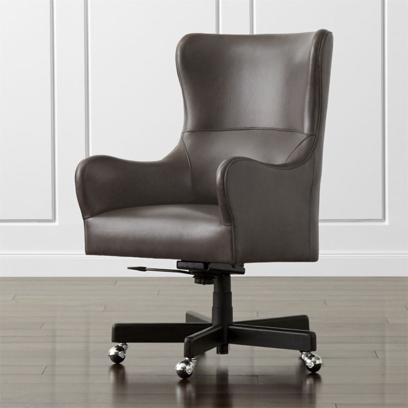 Leather Wingback Office Chair