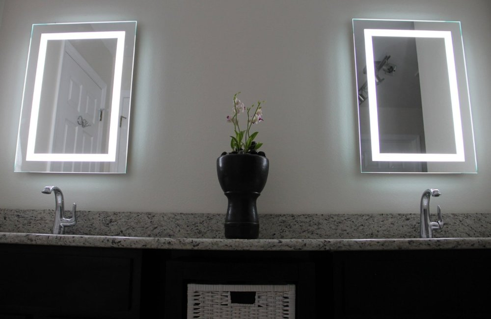 Led Bathroom Mirrors Battery