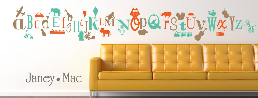 Letter Wall Decal Stickers