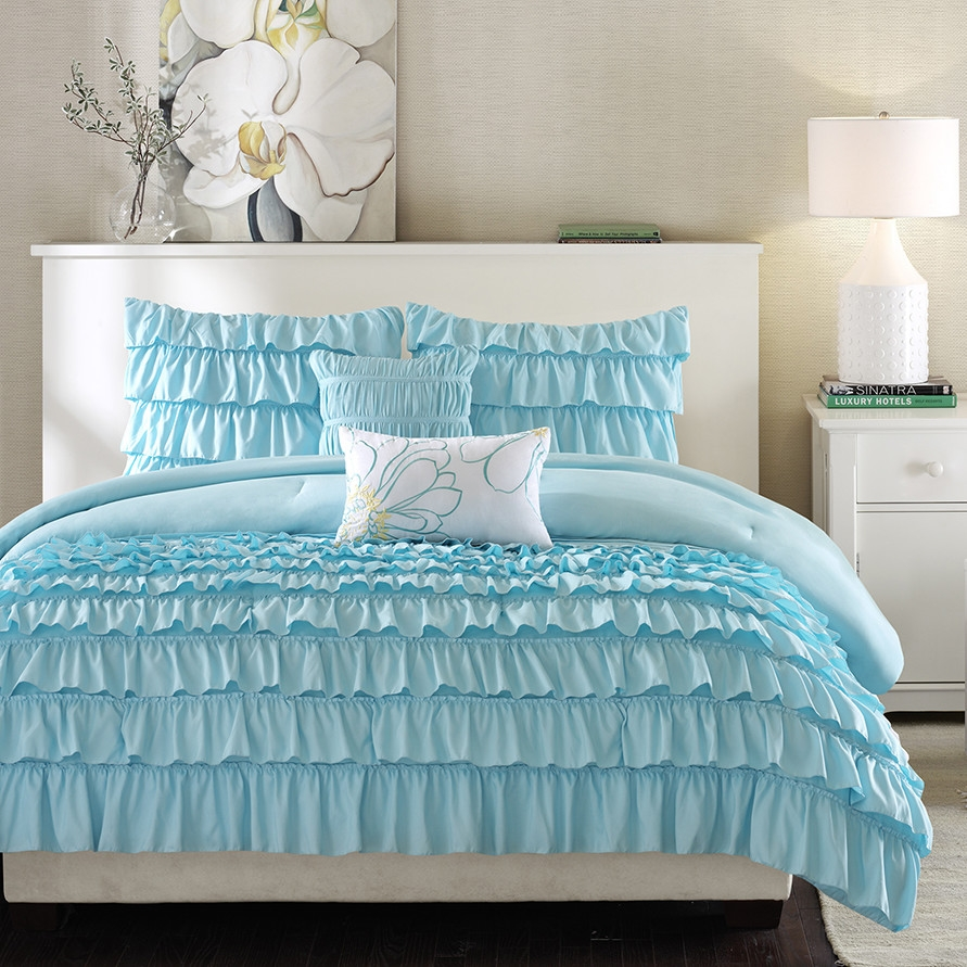 Light Blue Comforter Set Queen