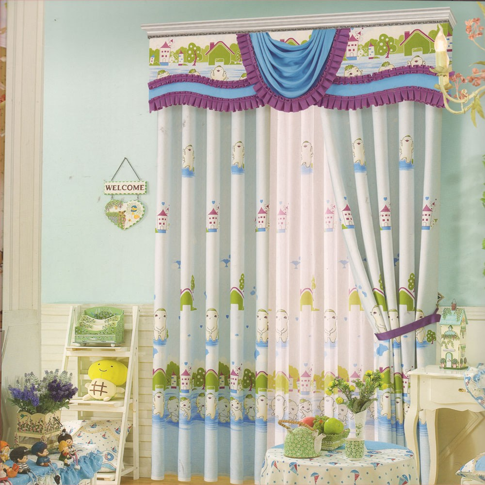 Light Blue Valance Curtains