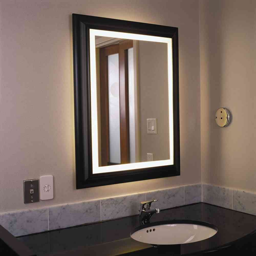 Lighted Mirrors Bathroom
